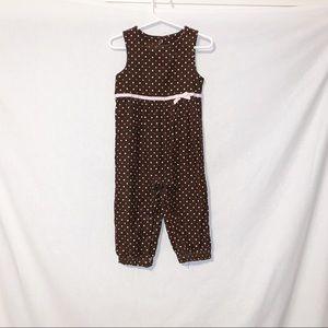 Gymboree 18-24 months Brown Polka Dot Pant Romper